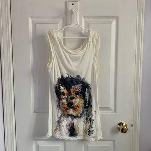 Anthropologie Dog T-shirt